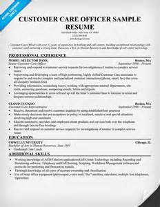 free sle resume for customer care executive centre customer care executive resume sle