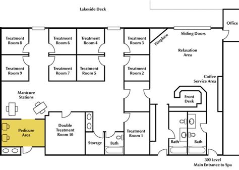 floor plan of spa 8 best spa layout images on salon decor
