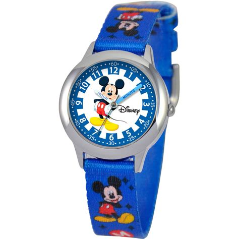 disney mickey mouse time blue and silver