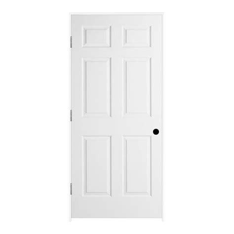 Single Panel Interior Doors White Jeld Wen 36 In X 80 In Molded Textured 6 Panel Primed White Solid Composite Single