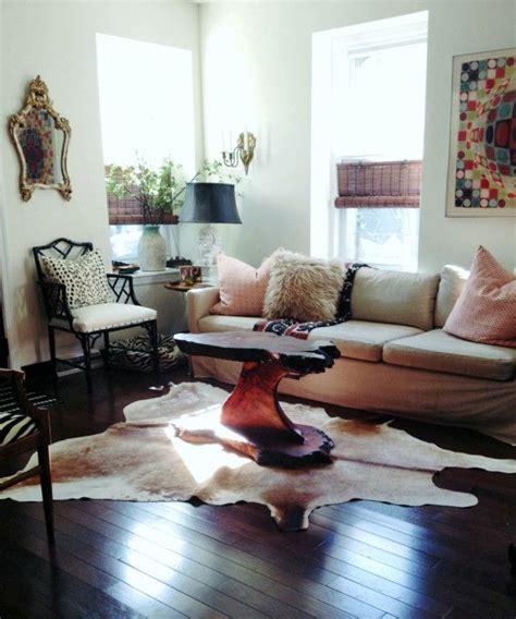 Cowhide Rug Living Room Ideas - living room decorating ideas cowhide rug unique