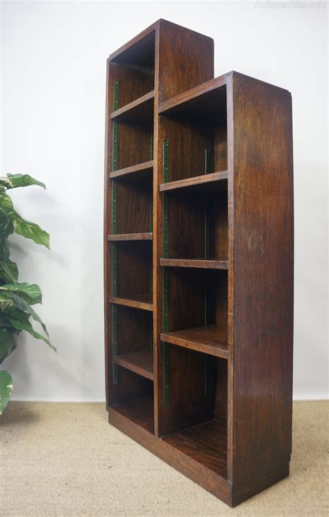 deco skyscraper solid oak open bookcase antiques atlas
