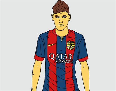 Dessin De Neymar Jr Colorie Par Membre Non Inscrit Le 10