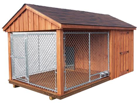 dog house with attached kennel pet structures with quality value dog kennels