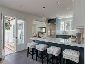 white and blue kitchen cabinets blue kitchen cabinets with gray quartzite countertops