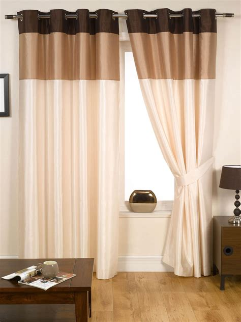cream and chocolate curtains natural harmony eyelet curtains free uk delivery