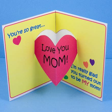 mothers day pop up card templates make s day pop up card s day crafts