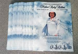 funeral programs printing custom large tabloid booklet memorial program printing service beautiful gloss finish on
