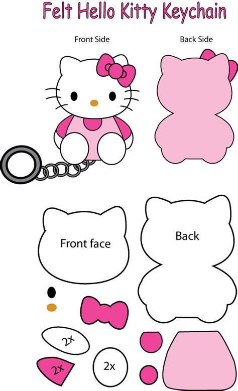 felt pattern hello kitty hello kitty felt keychain by mokulen22 on deviantart