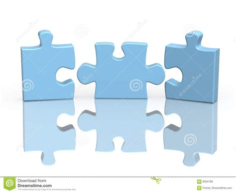 Puzzle Part three parts of a puzzle royalty free stock images image