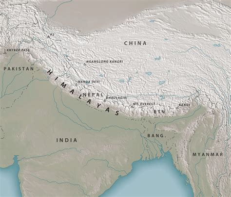 himalayan mountains map where are the himalayas geolounge all things geography