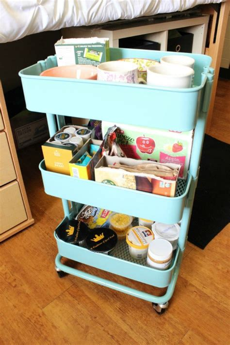 Ikea Raskog Cart by Going To College Dorm Room Hacks And Tips