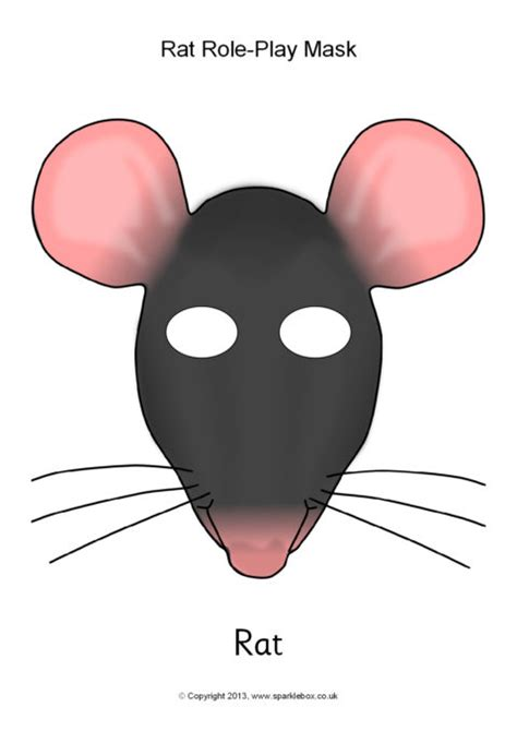 printable animal role play masks rat role play masks sb9962 sparklebox