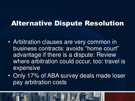 aba section of dispute resolution enforcing your deal