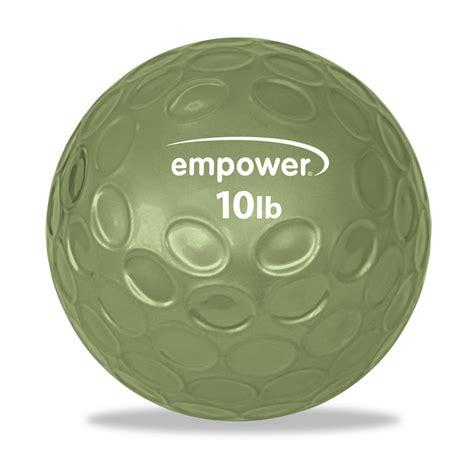comfort balls empower fitness 10lb comfort grip medicine ball with dvd