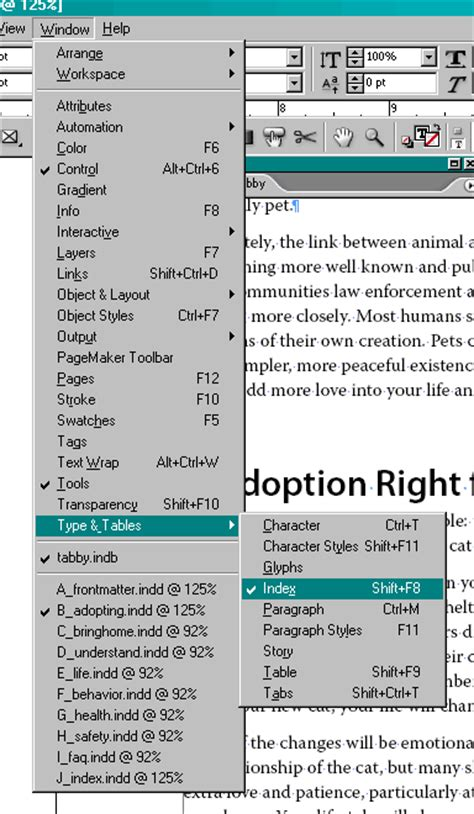 indesign creating an index add an index to your book with indesign