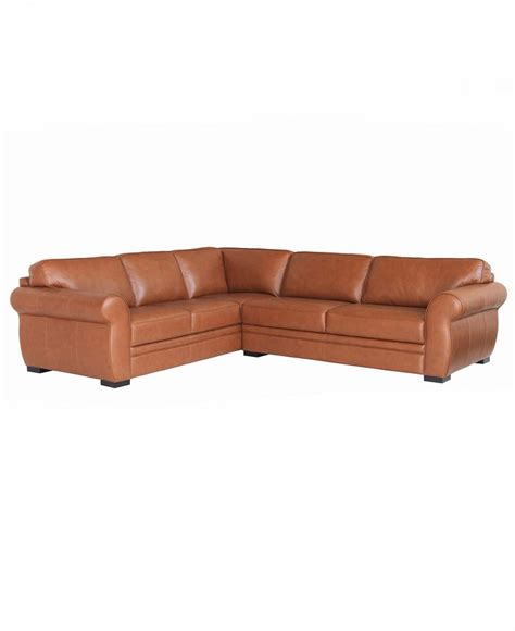 Macys Leather Furniture by Carmine Leather Sectional Sofa 2 Sofa And
