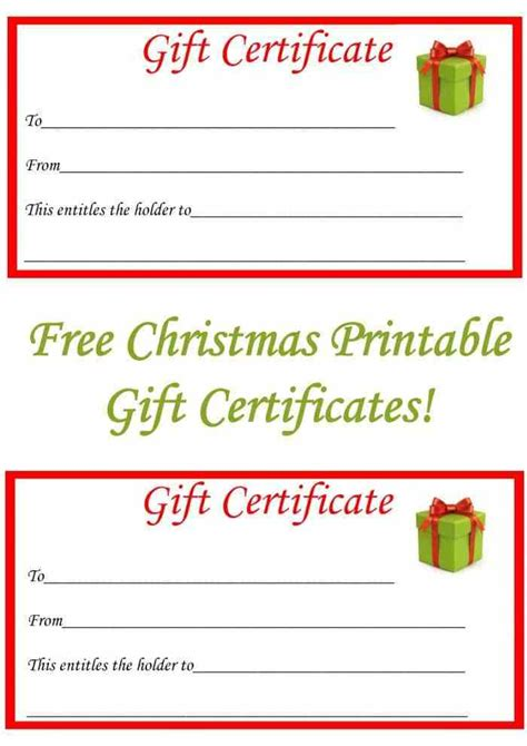 printable gift cards christmas search results for christmas printable gift certificates