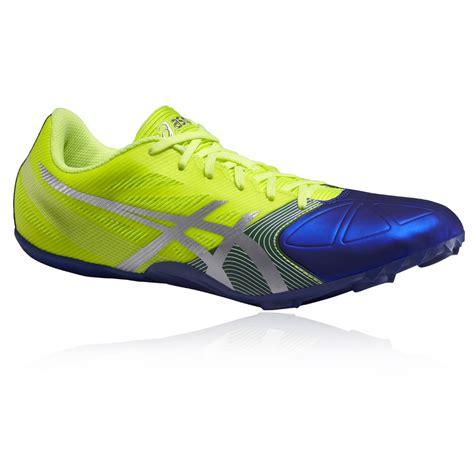 athletics shoes spikes asics hypersprint 6 mens yellow blue running athletics