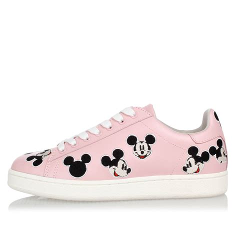 mickey sneakers moa master of arts disney leather embroidery mickey