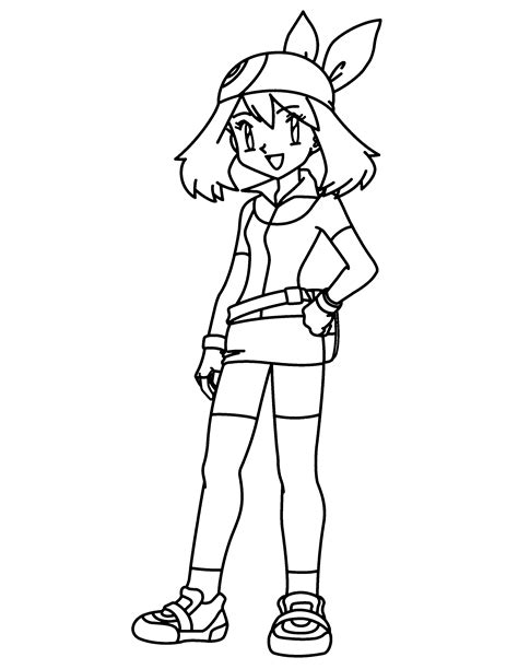 Pokemon Trainer Coloring Pages | ash may pokemon swim trunks images pokemon images