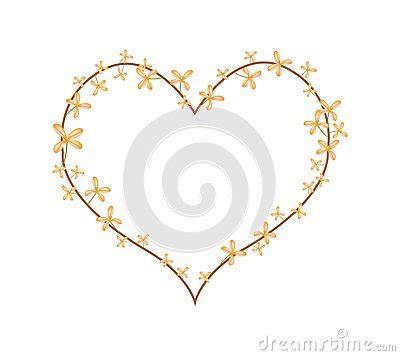 fiori di osmanto fiori arancio di osmanto in una forma cuore