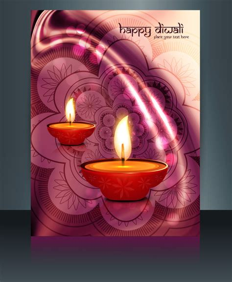 diwali card templates free vector beautiful diwali celebration brochure card template