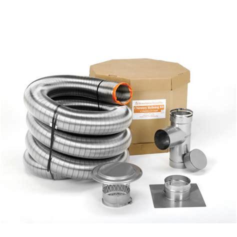 Chimney Liner Kit - homesaver ultrapro chimney liner kit 6 in dia x 25 ft l
