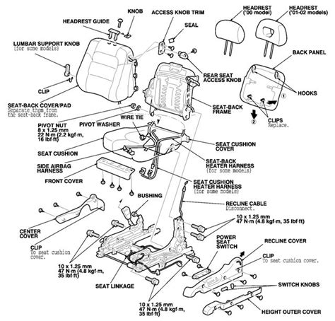 tilt schmatica manual seat in a 2009 honda civic 2002 honda accord the driver s side seat does not fold