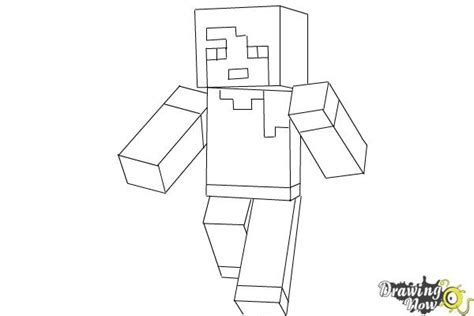minecraft alex coloring page how to draw alex from minecraft drawingnow