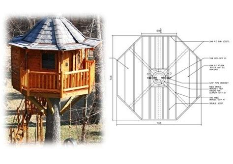 tree house plans for one tree tree house plans for one tree awesome 12 octagon treehouse plan new home plans design