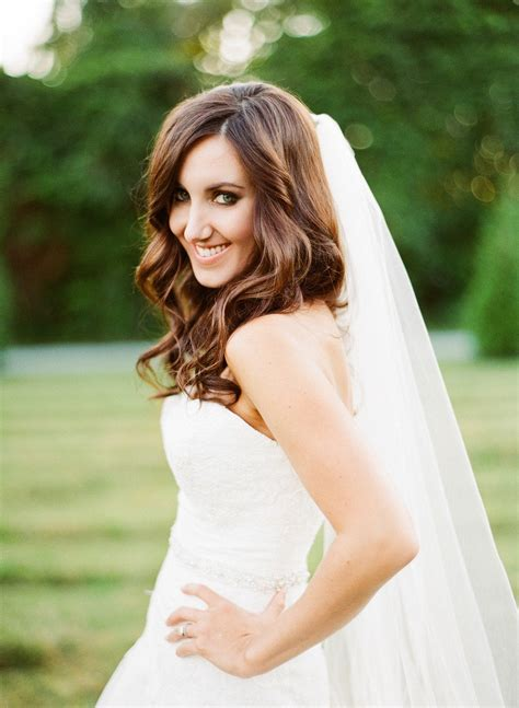 bridal hairstyles down with veil pinterest