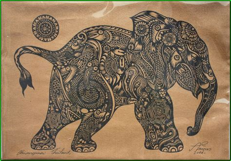 watercolor tattoo thailand thai traditional of elephant calf by silkscreen