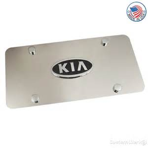 kia chrome logo on stainless steel license plate