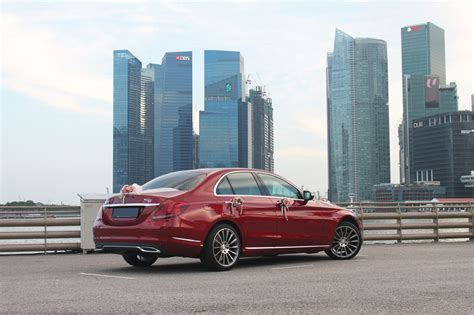 car mercedes red red mercedes c180 amg perfect wedding cars singapore