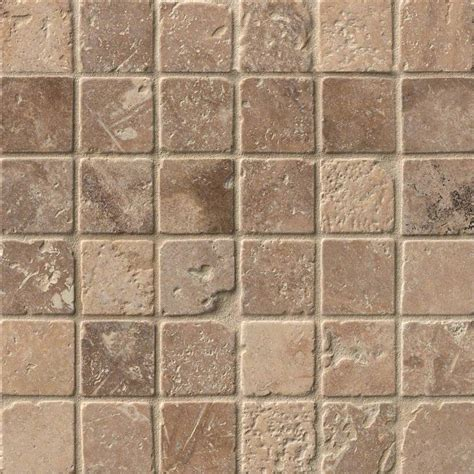 tuscany walnut tumbled mesh travertine backsplash tile