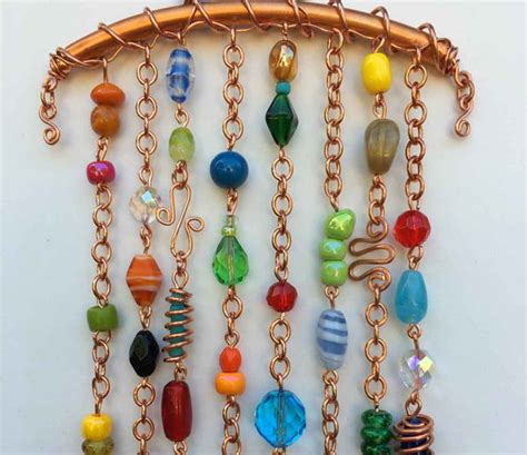 beaded wind chimes wind chime sun catcher glass beaded wind chime copper