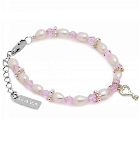 Beautiful Bracelet beautiful key charm bracelet infinity pink