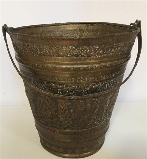 anglo raj mughal bronzed copper vessel bucket  sale