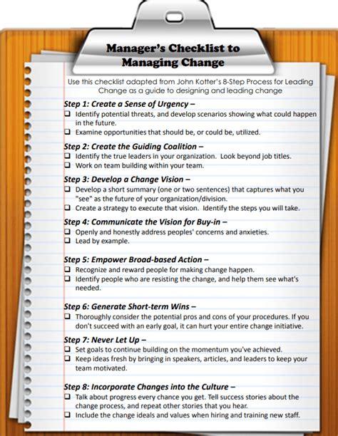 kotter enlist a volunteer army kotter change management checklist basic ultimate version