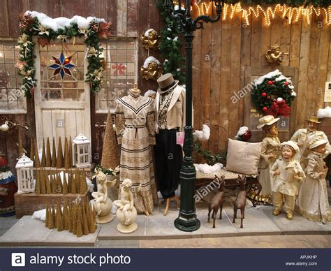 shop window decorations for christmas stock photo royalty