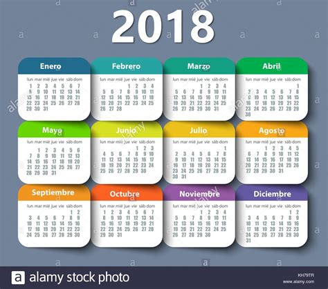 Calendar 2018 Template Design Calendario 2018 Stock Photos Calendario 2018 Stock