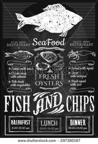 fish and chip shop menu template fish restaurant fish chips poster menu for fish