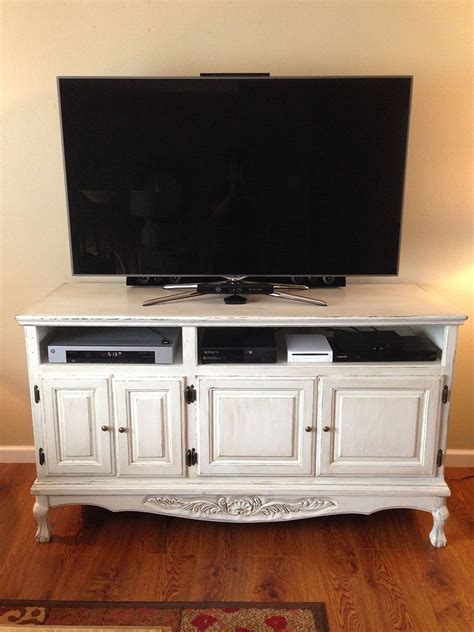 chalk paint tv cabinet hometalk painted distressed tv cabinets