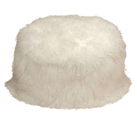 fluffy pouf ottoman furry pouf at 1stdibs