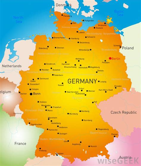 cities in germany 28 cities in germany large detailed political and
