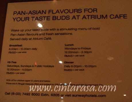 atrium new year menu atrium cafe pyramid tower cintarasa