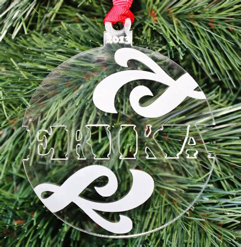 swirl name ornament personalized christmas ornament