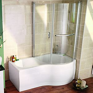 curved shower bath bath screens shower screens wickes