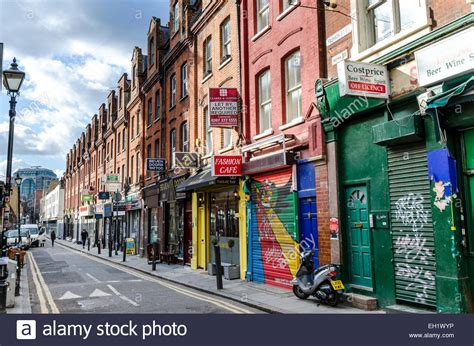 house to buy east london colourful shop fronts and houses on fashion street in east london stock photo royalty